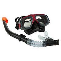 Набор для плавания Intex 55949 (маска, трубка) черный