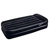 Надувная флокированная кровать BestWay 67401 с подголовником, черная, со встроенным насосом 220V, 191 х 97 х 46 см