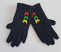 Детские перчатки с бабочками