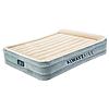 Двухспальная надувная флокированная кровать Bestway 67566, бежевая, со встроенным насосом 220V, 203 х 152 х 43 см