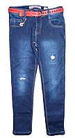 Джинсовые брюки на флисе  для девочек оптом, Seagull  134-164 рр., арт. CSQ-89713