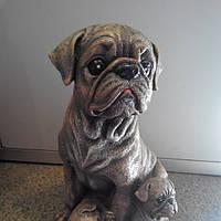 Копилка Собака Мопс со щенятами 29см