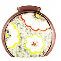 Ваза керамическая авторский дизайн ручная роспись Рура сиреневая 30см 9851