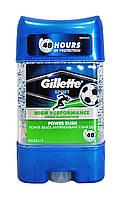 Гелевый дезодорант-антиперспирант Gillette Power Beads Power Rush - 75 мл.