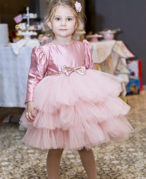 Детское платье - цвет пудра