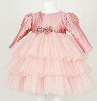 Дитяче плаття - колір пудра, фото 2