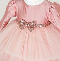 Детское платье - цвет пудра, фото 4