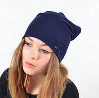 Качественная шапка  синяя