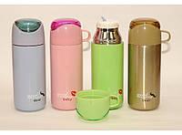 Термос Т71, Термокружка с поилкой 380мл, Термос с чашкой, Термос маленький, Термос питьевой, Термос с поилкой