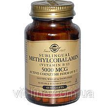 Solgar, Сублінгвальних метилкобаламін (вітамін B12), 5000 мкг, 60 капсул
