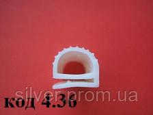 Уплотнитель е-образный из силиконовой резины 13х15мм