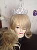 Диадема высокая корона АЛИСИЯ Тиара Виктория для волос свадебная диадема украшения, фото 8