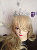 Диадема высокая корона АЛИСИЯ Тиара Виктория для волос свадебная диадема украшения, фото 9