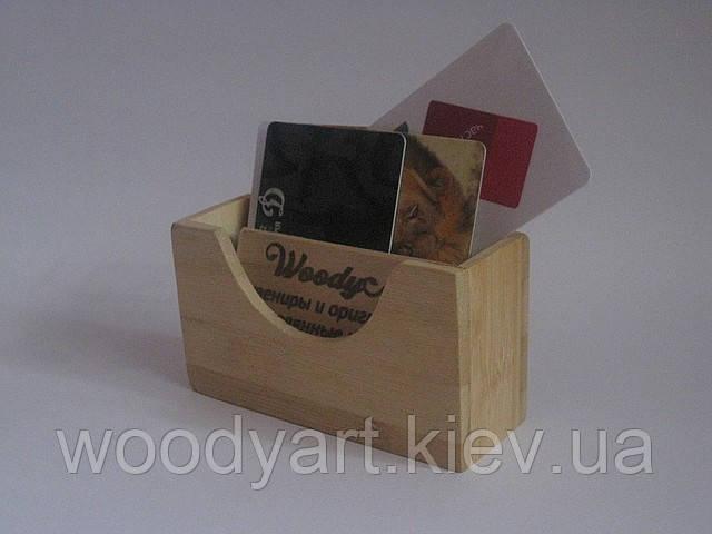 Подставка для карточек деревянная