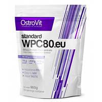 Протеин OstroVit  STANDARD WPC80.eu, 900 грамм Ваниль.клубника