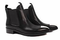 Ботинки женские Basconi натуральная кожа, цвет черный (ботильоны, каблук, весна-осень), фото 1