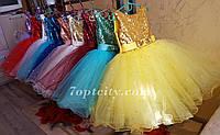 Платье детское нарядное детское Сияние белое с золотом 10 цветов (3-5 лет)