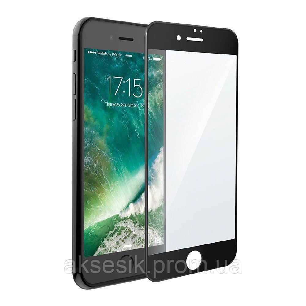 Защитное стекло Glass colour Matt Apple iPhone 7 без упаковки (black)