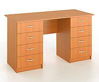 Стол письменный 2-тумбовый с 8 шухлядами, фото 1