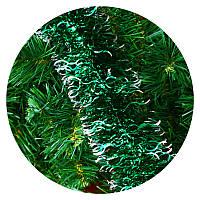 """Дождик """"Волна"""" 10 см (зеленый, серебряные края)"""
