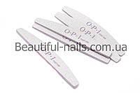 Пилка для ногтей OPI 100/180, полукруг, серая
