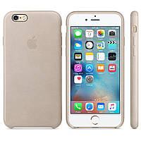 Кожаный чехол Apple Leather Case IPHONE 6/6S (Gold)