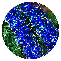 """Дождик """"Волна"""" 10 см (синий, серебряные края)"""