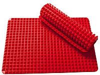 Силиконовый коврик для запекания и выпечки (пирамидка), антипригарный коврик 38х27 см