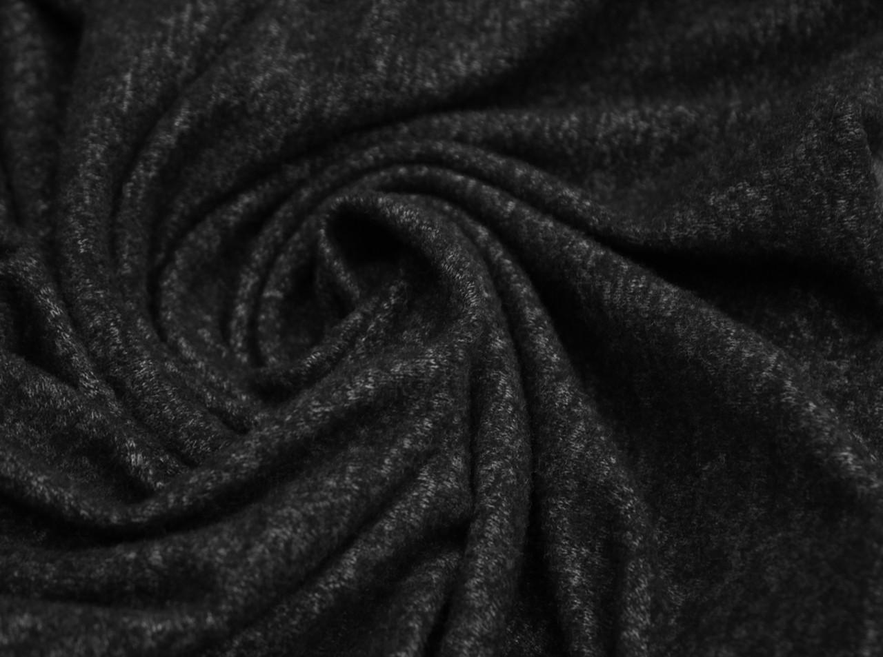 Трикотаж ангора темно- серый меланж
