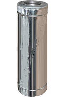 Труба дымохода 1м нерж/оцинк 0,8 мм Ø100/200 AISI 321