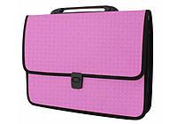 Пластиковый портфель Вышиванка розовый