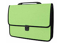 Пластиковый портфель Вышиванка зеленый