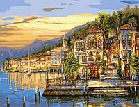Картина по номерам  Озеро Комо G295
