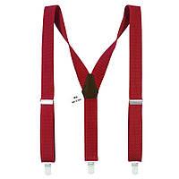 Подтяжки мужские красные длинные 3.5 см Y