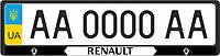 Рамка под номерные знаки RENAULT (черная)