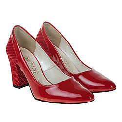 Туфли женские ZanZara (красного цвета, оригинальные, удобные)