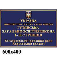 Фасадная адресная табличка (синяя)
