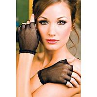 Короткие рукавички с открытыми пальчиками
