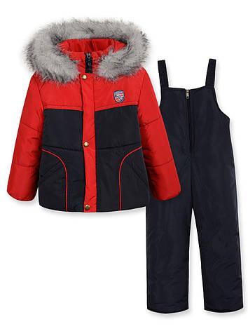 Детский зимний комбинезон на мальчика RONALDO красный р.98-110, фото 2