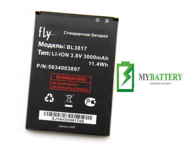 Оригинальный аккумулятор АКБ батарея Fly BL3817, IQ4417