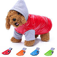 Теплая куртка с капюшоном для собак Pet Puppy Dog S, Красный
