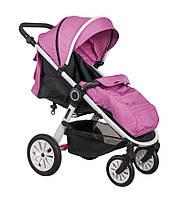 Детская прогулочная коляска Coletto JOGGY 02 на белой раме, розовая (7005)