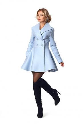 Шикарное приталенное пальто с отложным воротничком, фото 2