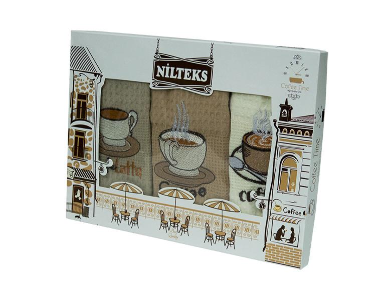 Набор кухонных полотенец Nilteks Coffee Time 3*50х70, 3440