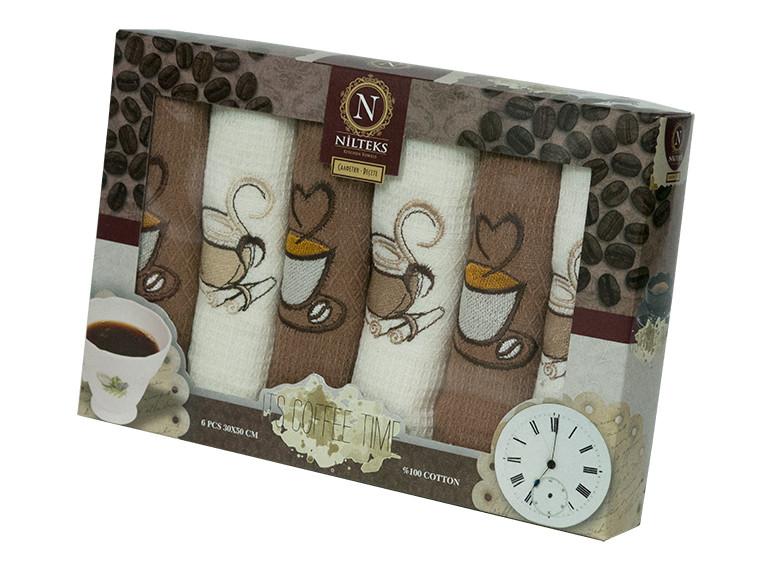 Набор кухонных полотенец Nilteks Coffee Time, 3444