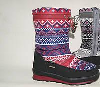 Зимняя подростковая обувь. Дутики оптом.9615E-13 (8пар, 31-36)