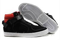 Мужские кроссовки Adidas Adi-Rise Mid (черные с красным)