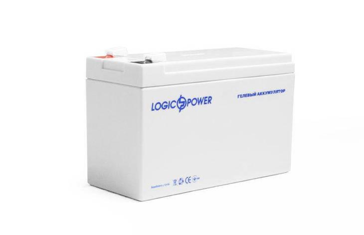 LogicPower LP-GL 12 - 7 AH - 12В - 7,0 А/год - гелевий акумулятор для дитячої машинки, сигналізації, ваг, фото 2