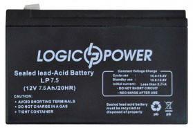 LogicPower LPM 12V 7.5Ah  - 12В - 7,5 А/ч  - кислотный аккумулятор для сигнализации, фото 2