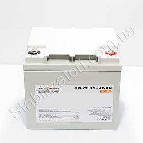 LogicPower LP-GL 12 - 40 AH - 12В - 40,0 А/ч  - гелевый аккумулятор для котла, фото 2